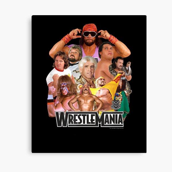 W..W..EZZ Wrestlemania Collage Canvas Print