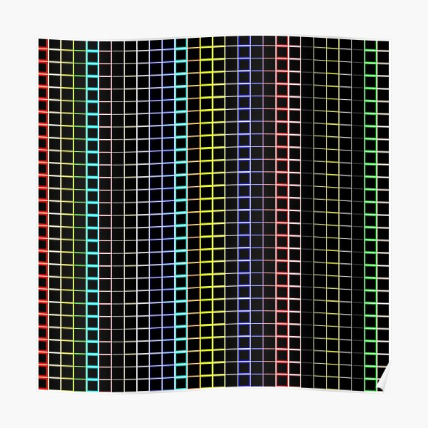 Rainbow squares Poster