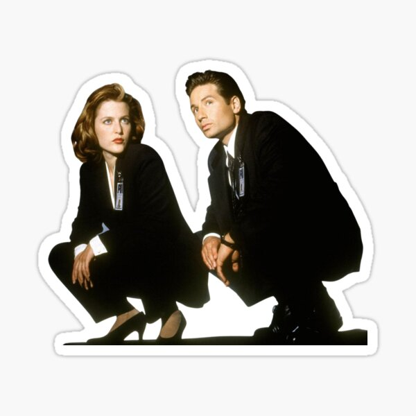 Expediente X: Agentes Fox Mulder y Dana Scully Pegatina
