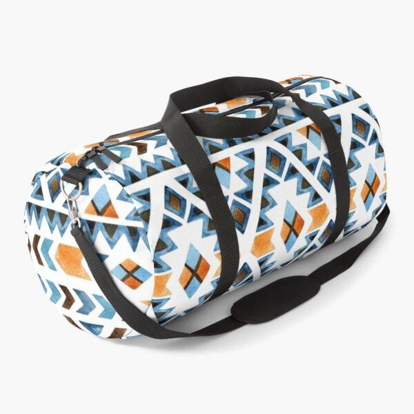 Blue and Orange Aztec Merchandise Duffle Bag