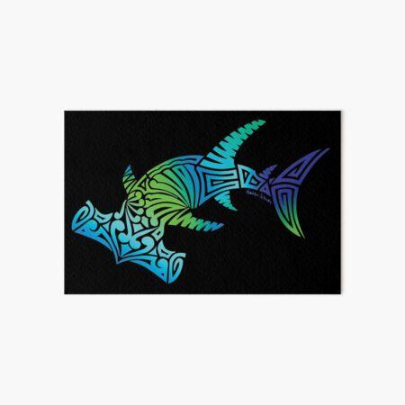 Cool Colors Tribal Hammerhead Art Board Print