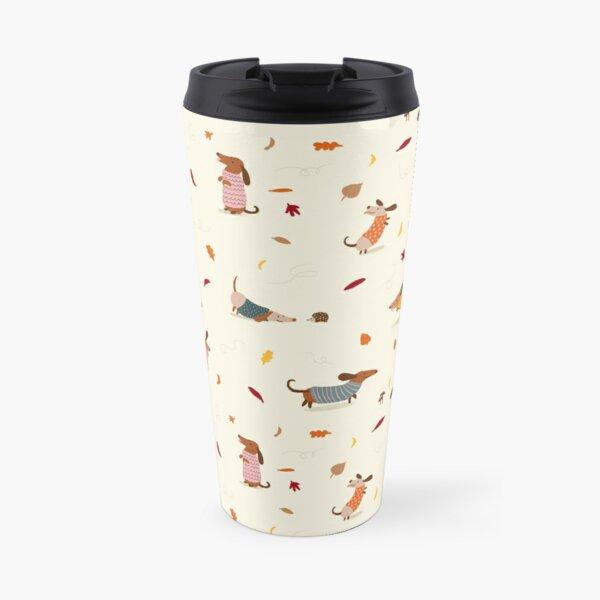 Dachshunds in  Sweaters Pattern Travel Mug
