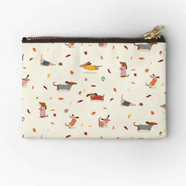 Dachshunds in  Sweaters Pattern Zipper Pouch