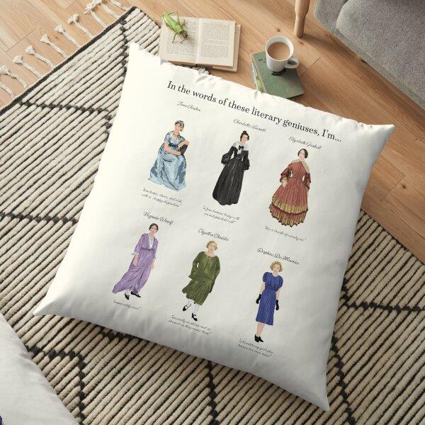 Six Female, British Literary Geniuses Floor Pillow