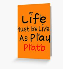 ╚»★Plato's Motivational Quote Clothing & Stickers & Cases & Tote Bags & Home Decor & Stationary★«╝ Greeting Card