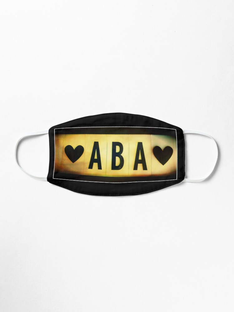 Alternate view of Father in Hebrew, Dad in Hebrew, Aba Mask