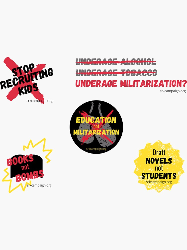 Demilitarize Our Schools   Stop Recruiting Kids Pack by JPOutiffters