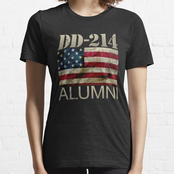 DD-214 Alumni Military Veteran Vintage American Flag Essential T-Shirt