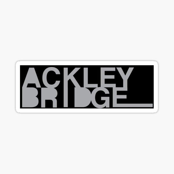 Ackley Bridge Greyscale Logo Sticker