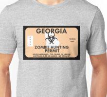 Zombie Hunting Permit - GEORGIA Unisex T-Shirt