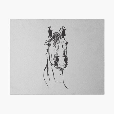 Horse head Art Board Print