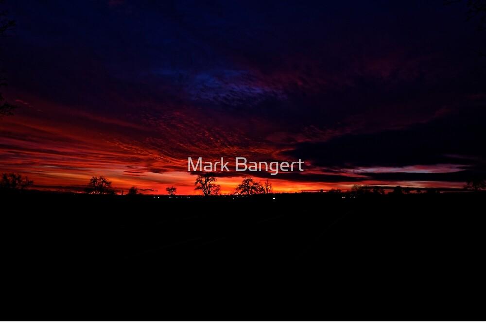 A bit of a sunset by Mark Bangert