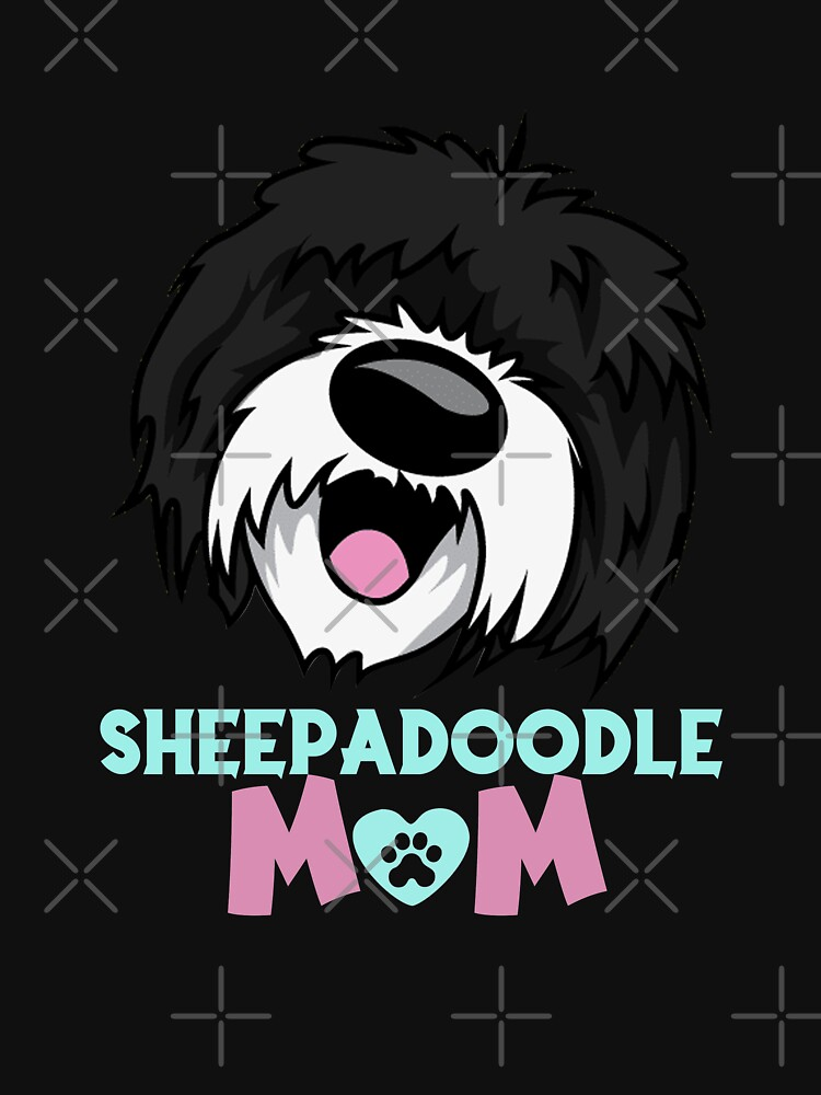 Sheepadoodle  Mom - Funny dog Sheepadoodle  lovers - Funny Illustration Gift For Mom by 96cazador