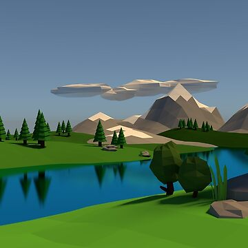 Low Poly Mountainside by seansm