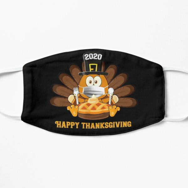 Happy Thanksgiving 2020 Funny Turkey Wear Mask Gift Flat Mask