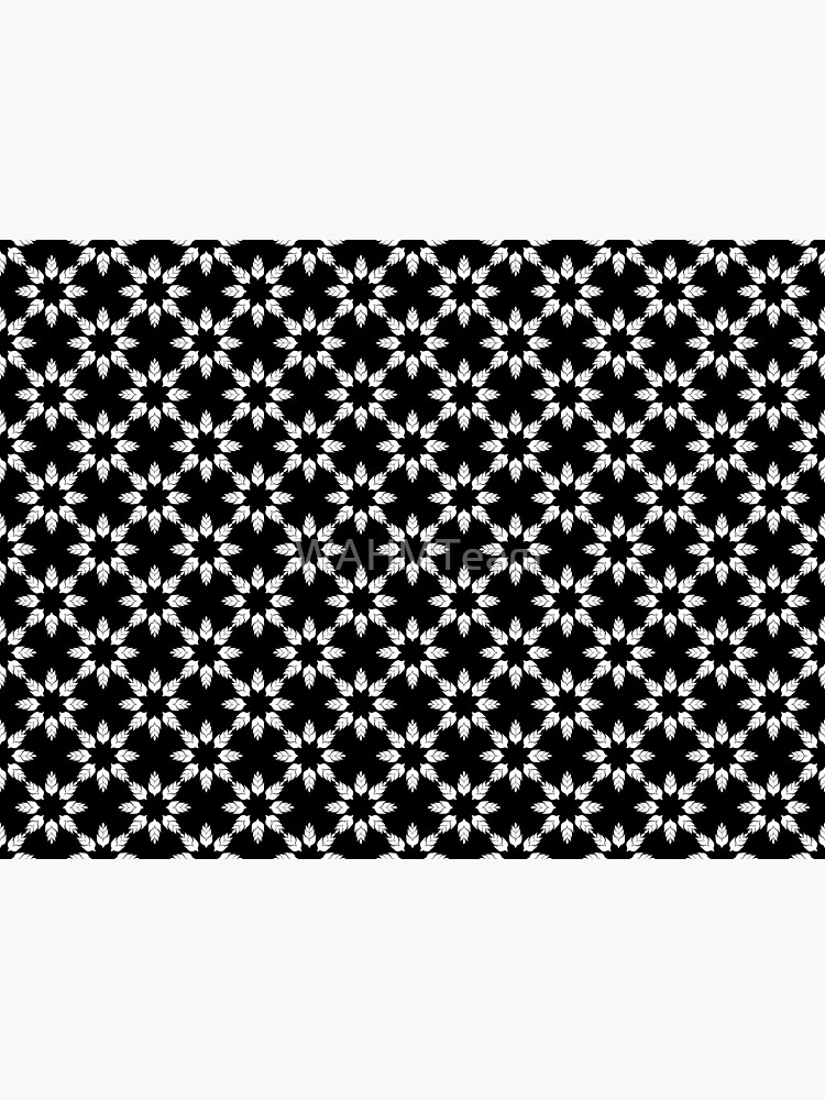 Black and White Floral Pattern by WAHMTeam