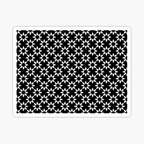Black and White Floral Pattern Sticker