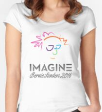 Imagine Bernie Shirt and Fundraising Gear Women's Fitted Scoop T-Shirt