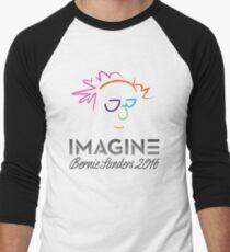 Imagine Bernie Shirt and Fundraising Gear Men's Baseball ¾ T-Shirt