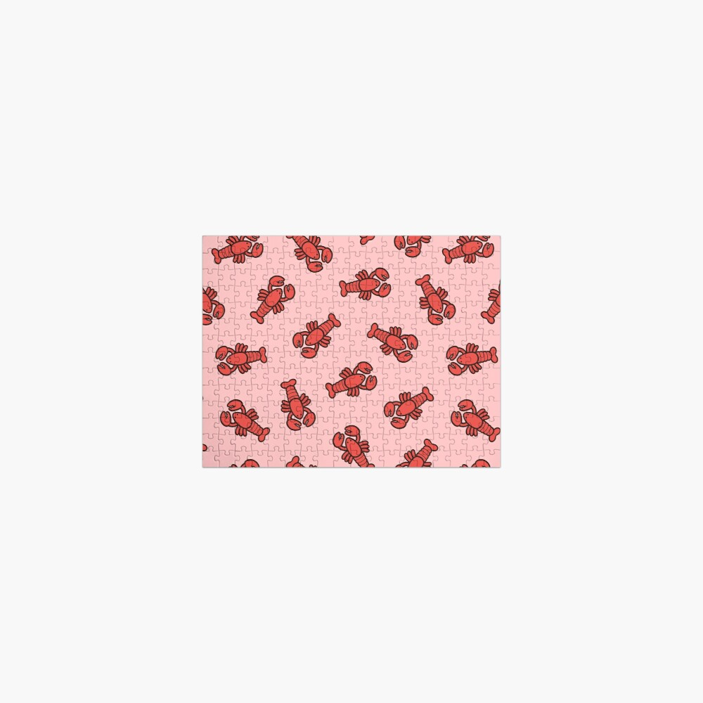 Lobsters Pattern on Light Pink Jigsaw Puzzle