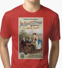 Vintage Joseph Schlitz Brewing Company Lager Beer Tri-blend T-Shirt