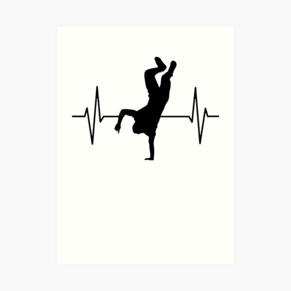 Street Dance Hip Hop Dance Break Dance Gift Art Print