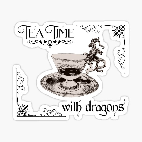 Tea Time with Dragons Sticker