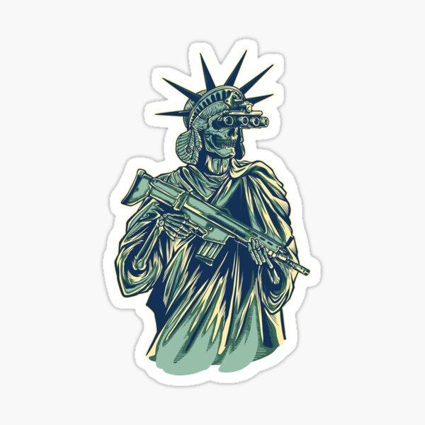 Tacticool Lady Liberty Sticker