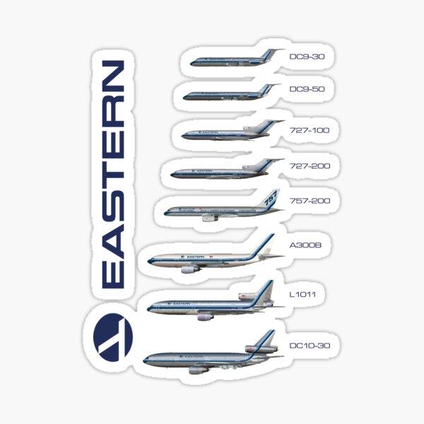 Eastern Air Lines fleet 1986 Sticker