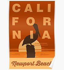 Newport Beach - California. Poster