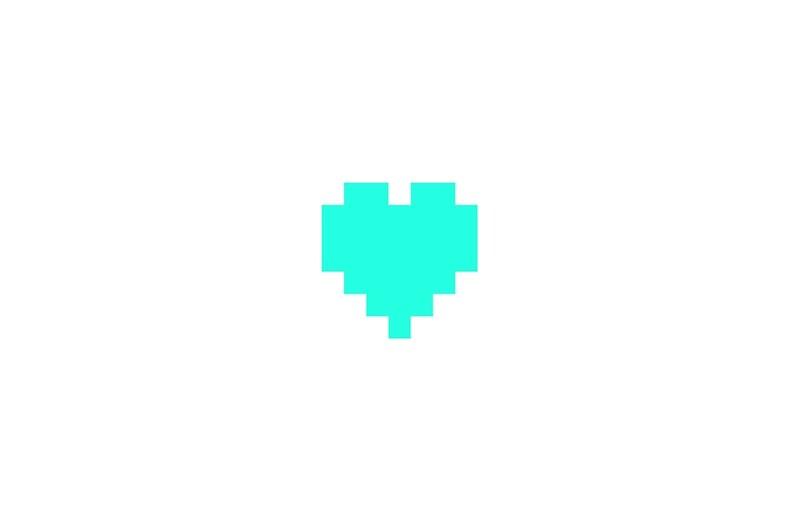 """Broken Pixels: Patient Pixel Heart"""" Studio Pouches By"""