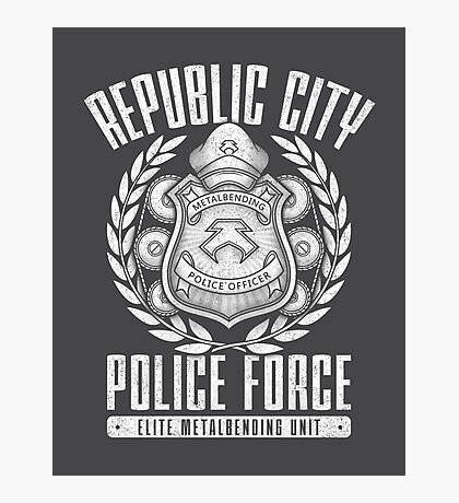Avatar Republic City Police Force Photographic Print