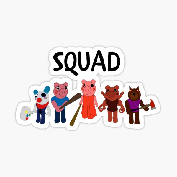 Unspeakablegaming Roblox Piggy Piggy Roblox Game Stickers Redbubble