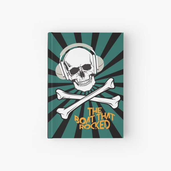 The Boat That Rocked - Alternative Movie Poster Hardcover Journal
