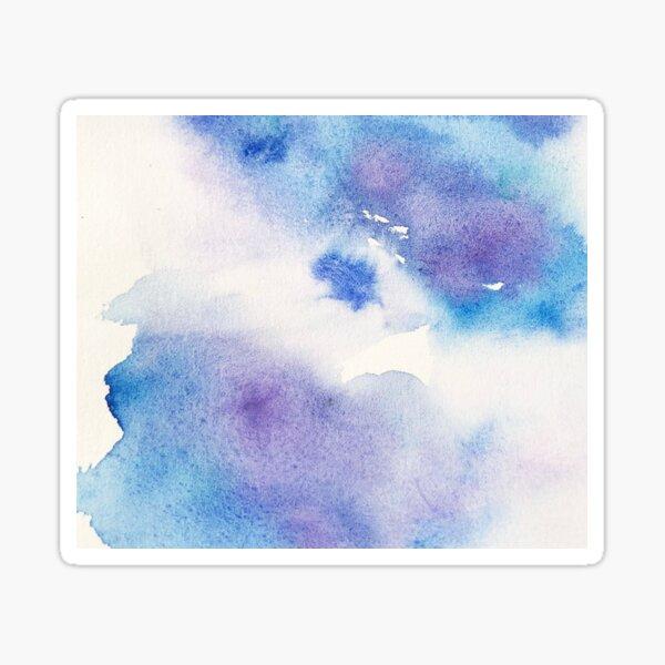 Liquid Art in Lavender and Blue Sticker