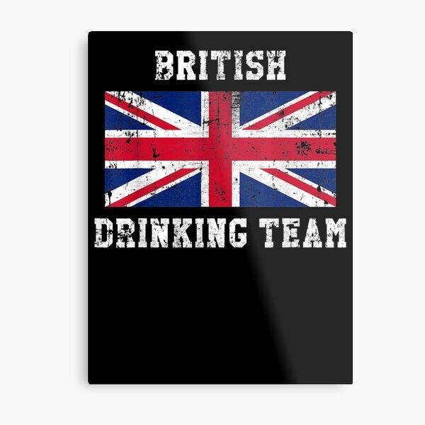 British Drinking Team National Pride Metal Print