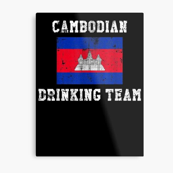 Cambodian Drinking Team National Pride Metal Print