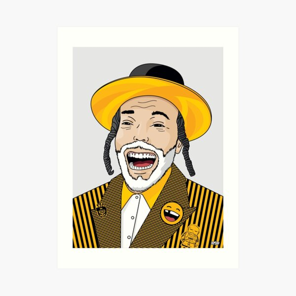 I can laugh - funny, smile | Modern and original jewish art Art Print
