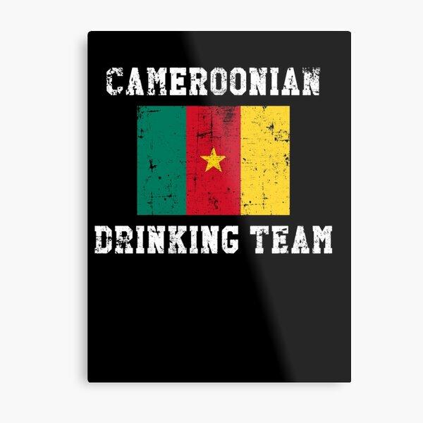 Cameroonian Drinking Team National Pride Metal Print