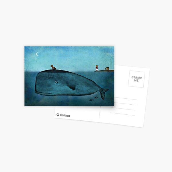 Whale and dog Postcard
