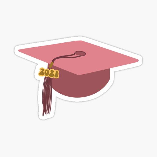 Gorra de graduación rosa 2021 Pegatina