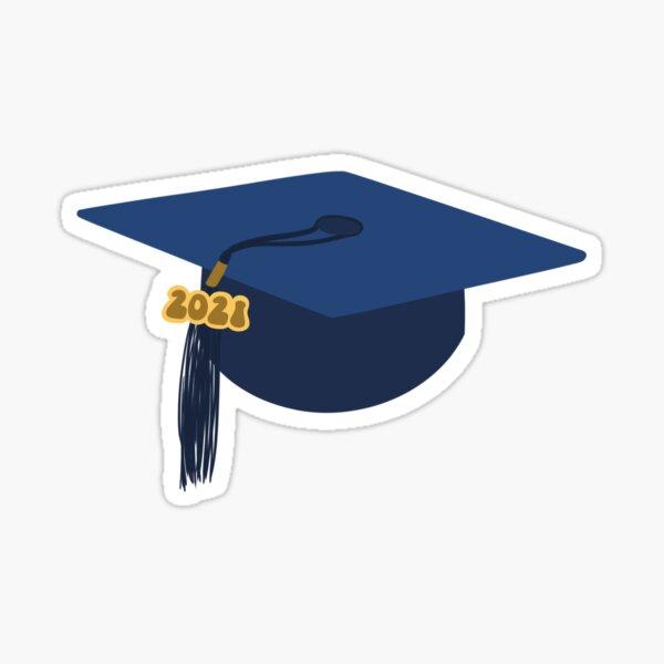 Gorra de graduación azul 2021 Pegatina