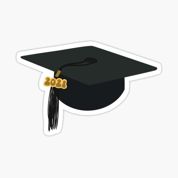 Gorra de graduación negra 2021 Pegatina