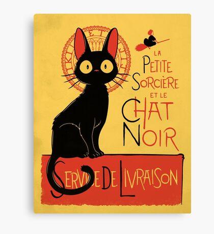 La Petite Sociere et le Chat Noir - Service de Livraison Canvas Print