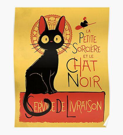 La Petite Sociere et le Chat Noir - Service de Livraison Poster
