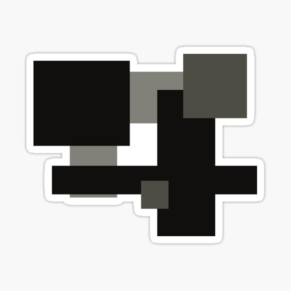 Monochrome Minimalism Digital Design Sticker