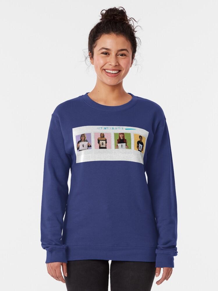 Alternate view of Art Interrupted-VOTE-Vote 2020 Pullover Sweatshirt