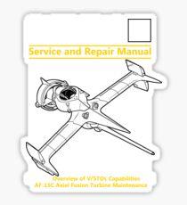 Swordfish Service and Repair Manual Sticker