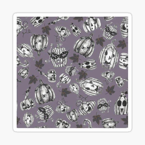Purple Halloween Spooky Jack-o-lantern Pumpkin Pattern Sticker