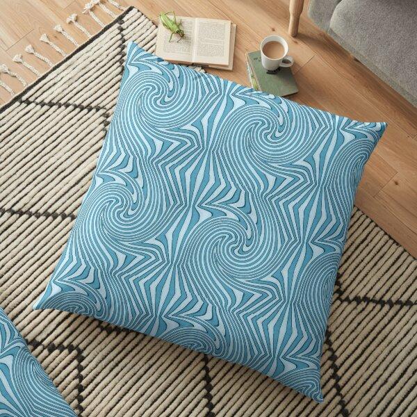 Groovy Blue Floor Pillow